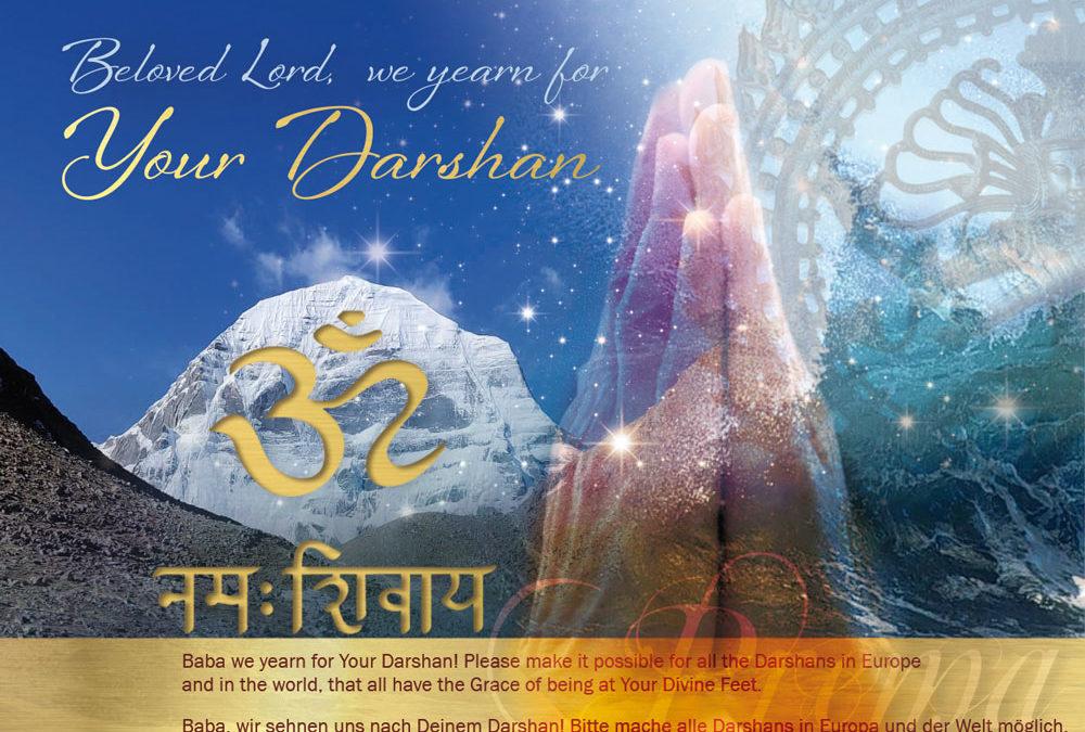 Gebet für Darshan in Europa